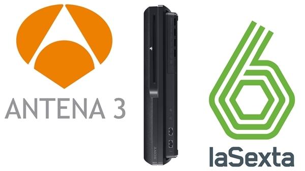 Antena 3 y La Sexta llevan sus canales de televisión a PlayStation 3