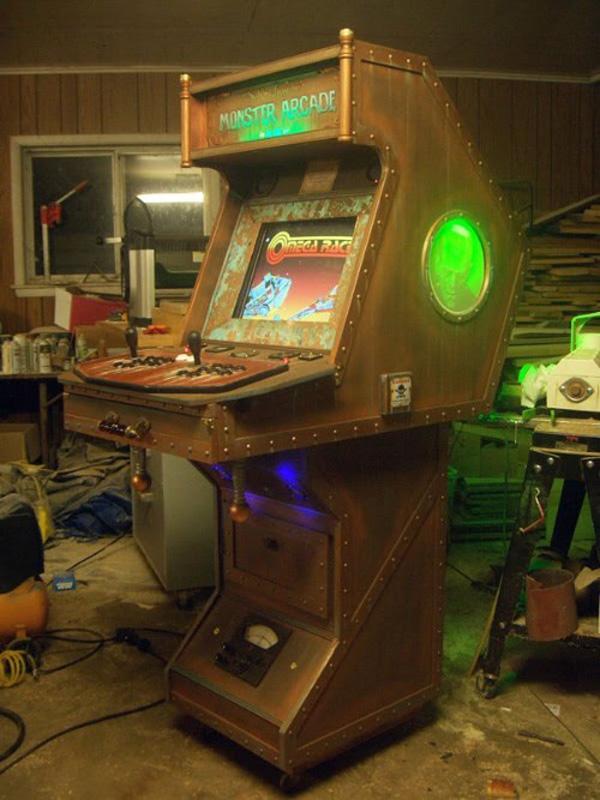 Monster Arcade, una máquina MAME con toques de Frankenstein y Steampunk