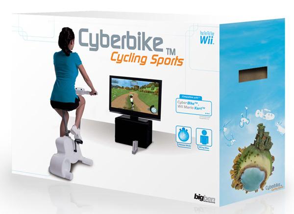 Cyberbike, bicicleta estática y set de juegos para la Wii ...