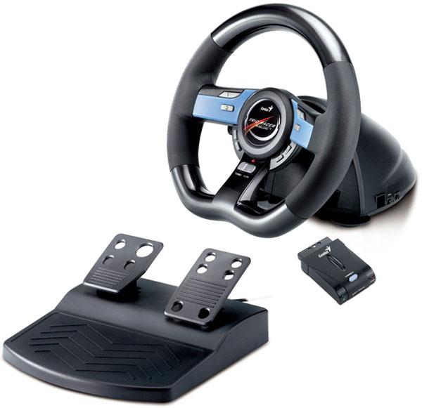 Genius Wireless Trio Racer, un volante y pedales para carreras realistas e inalámbricas