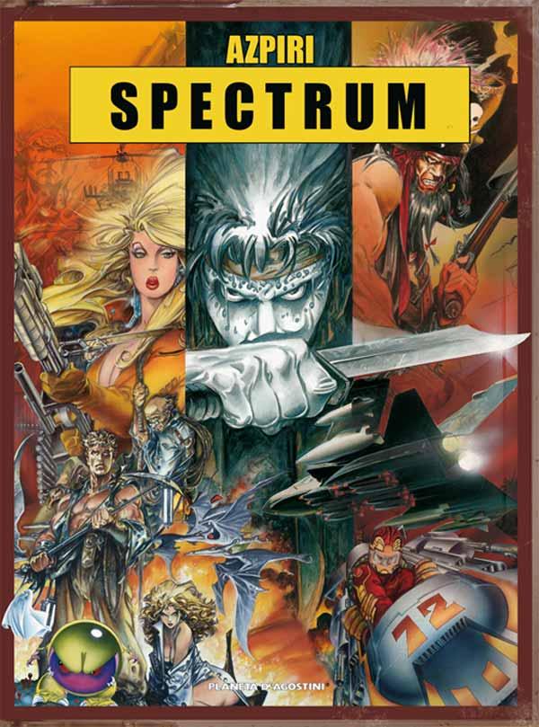Spectrum, una recopilación de carátulas de juegos clásicos dibujados por Alfonso Azpiri