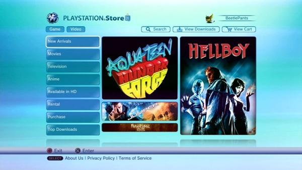 La Video Store de PlayStation estará disponible en Europa a partir del 18 de noviembre