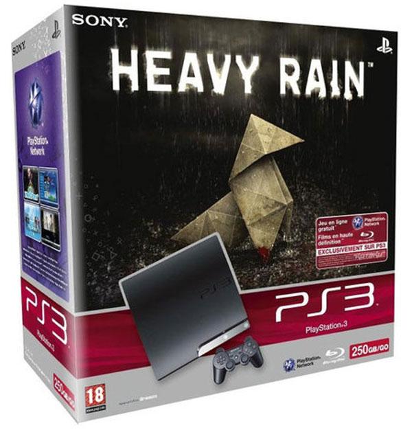 PlayStation 3 Heavy Rain pack, consola con disco duro de 250 GigaBytes y juego, por 350 euros