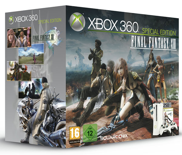 Xbox 360 Super Elite Final Fantasy XIII, edición especial con disco duro de 250 GigaBytes