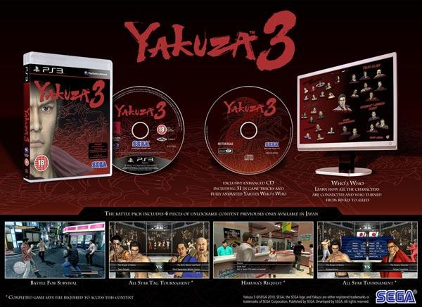 Yakuza 3, la edición Battle Pack europea contendrá mucho material adicional