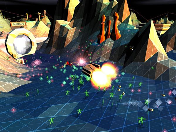 Darwinia+, un juego de estrategia con gráficos al estilo de los videojuegos de los 80