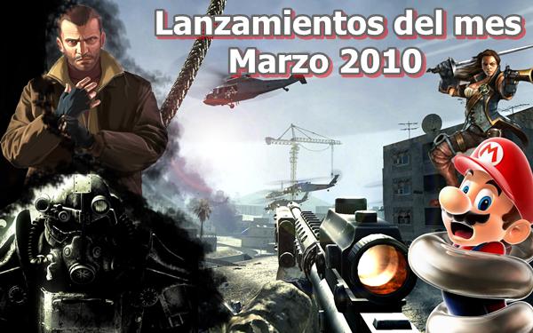 Lanzamientos de videojuegos del mes – Marzo 2010