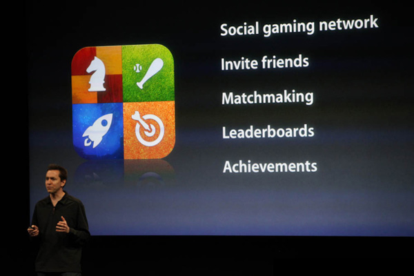 Apple's Game Center, un portal de descarga de juegos al estilo Xbox Live, para iPad y iPhone