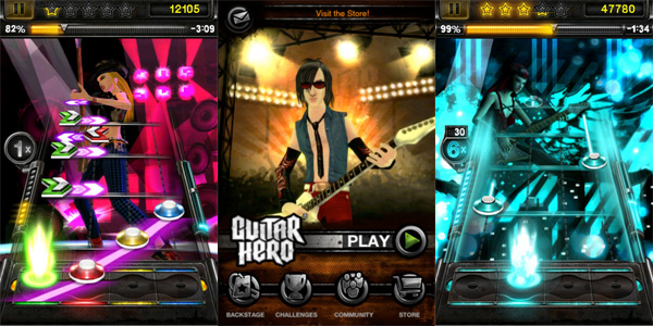 Guitar Hero, listo para descargar para iPhone y iPod Touch desde la Apple Store