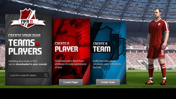 FIFA 11 Creation Center, el nuevo FIFA tendrá un editor de jugadores y equipos con todo detalle