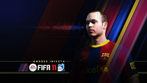 FIFA 11, Andrés Iniesta será el protagonista de la portada de FIFA 11