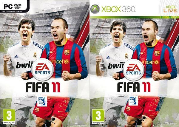 FIFA 11, EA muestra todas las portadas de FIFA 11 con Iniesta y Kaká de protagonistas