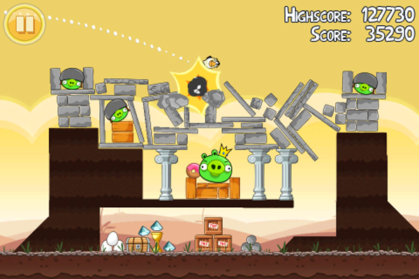 Angry Birds, EA distribuye el juego Angry Birds