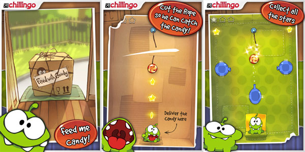 Cut the Rope, un divertido juego casual para iPhone, para descargar por sólo un euro