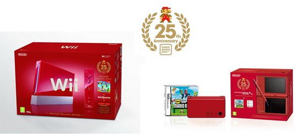 Super Mario Bros, Nintendo celebra sus 25 años con una Wii y DS especiales