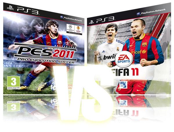 FIFA 11 vs PES 2011, comparativa a fondo de FIFA 11 y PES 2011 y opiniones