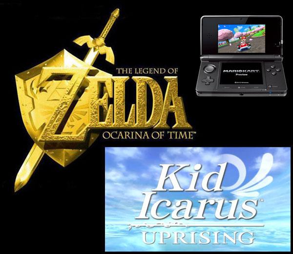 Nintendo 3DS, Zelda, Kid Icarus y Mario Kart saldrán después del E3 para la Nintendo 3DS