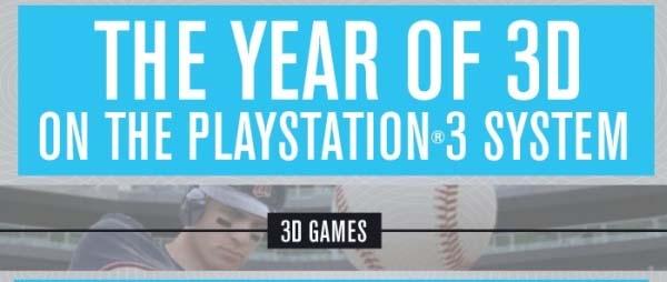Juegos en 3D, habrá más de 30 juegos en 3D para PlayStation 3 a finales de año