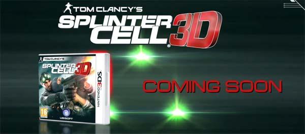 Splinter Cell 3D, vídeo de presentación de la nueva aventura de Sam Fisher