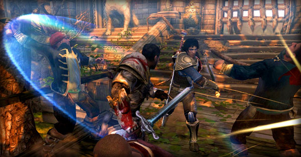 Dungeon Siege, la tercera entrega presenta a un nuevo personaje llamado Lucas Montbarron