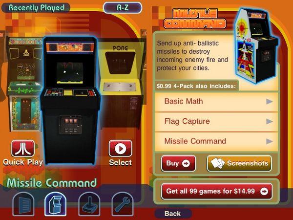 Atari lanza una aplicación gratuita para iPhone con 100 de sus mejores juegos clásicos