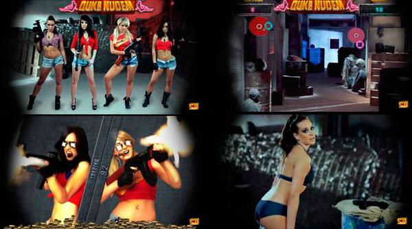 Duke Nukem, las chicas de Duke Nukem, desnudas en un minijuego bochornoso