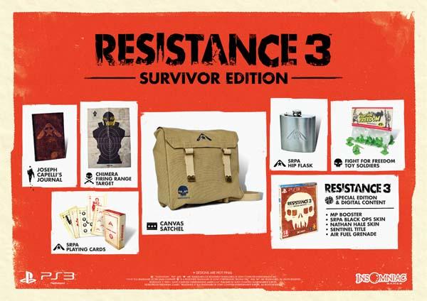 Resistance 3, se desvelan sus ediciones especiales junto con su fecha de lanzamiento