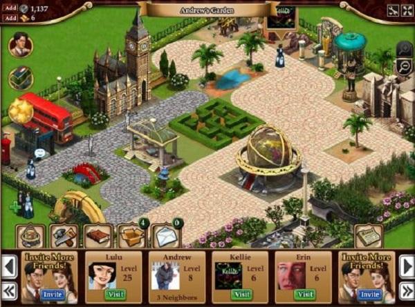 Gardens of Time, un juego de búsqueda de objetos y jardines para Facebook