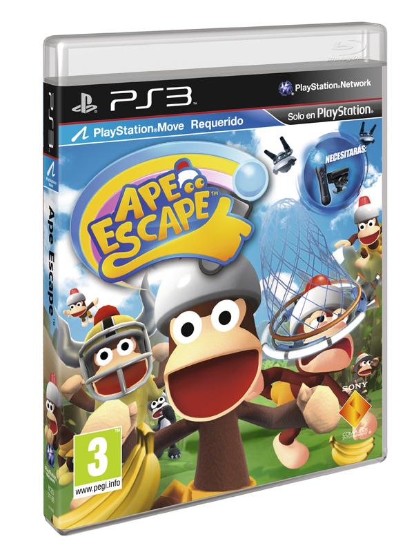 Ape Escape, el juego de acción para PlayStation 3 ya está a la venta