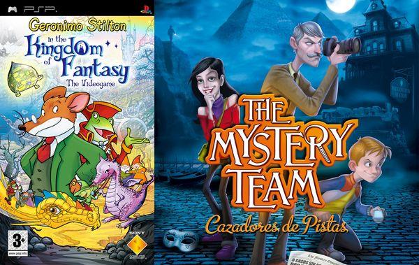 Nuevos Geronimo Stilton El Reino de la Fantasía: El Videojuego y The Mystery Team para PSP