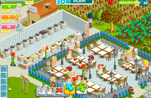 Gourmet Ranch, un juego gratis para Facebook al estilo de CityVille, pero con un restaurante