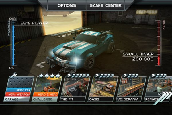 Death Rally, descarga gratis el juego de carreras Death Rally para iPhone, iPad y iPod Touch