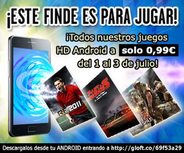 Todos los juegos de Gameloft para Android a menos 1 euro todo el fin de semana