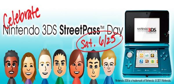 Nintendo 3DS, declaran el 25 de junio «Día Mundial del Street Pass»