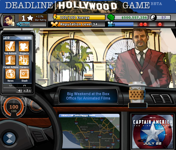 Deadline Hollywood Game, un nuevo juego de facebook basado en el cine y su entorno