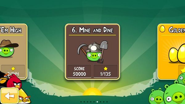 Angry Birds, ya disponibles para Android los 15 nuevos niveles Mine And Dine de Angry Birds