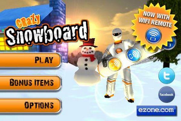Crazy Snowboard, descarga gratis este juego de snowboard para smartphones Android