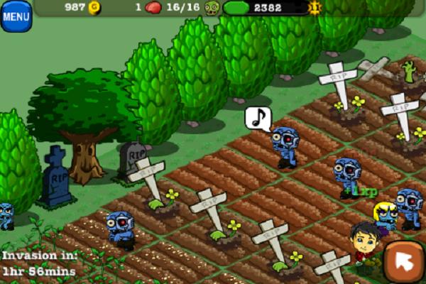 Скриншоты игры Zombie Farm для iPhone, iPod, iPad. Игровой процесс