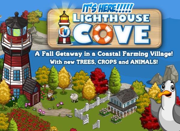 Lighthouse Cove, la nueva expansión de FarmVille en Facebook