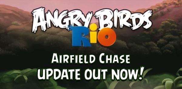Angry Birds Rio, descarga gratis la actualización «Airfield Chase»