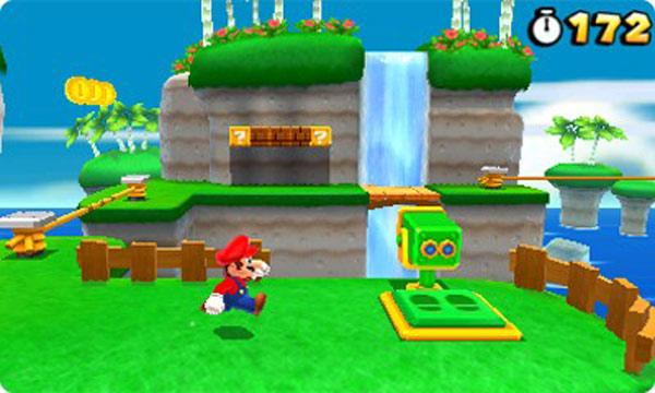 Super Mario Land 3D, detalles del control por giroscopio