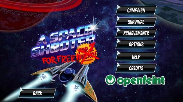 Descarga gratis el juego de disparos A Space Shooter For Free