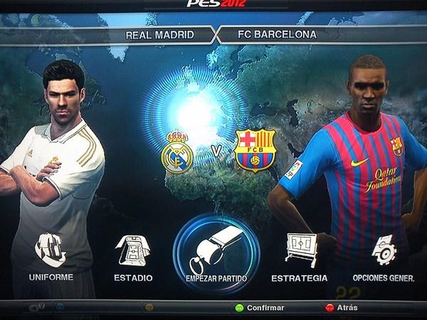 Real Madrid – Barcelona, el Madrid gana el clásico en PES 2012